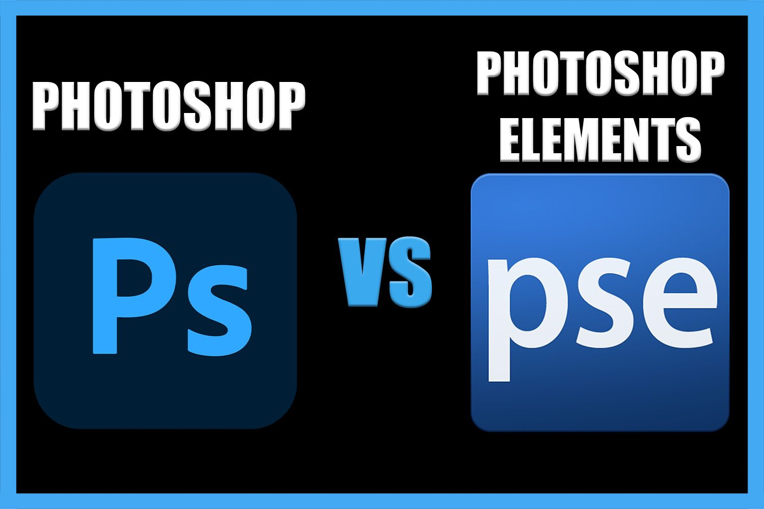 Difference between Photoshop and Photoshop Elements