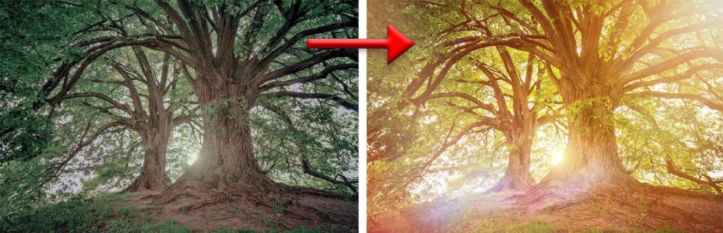 Photoshop Light Effect - Lens Flare Photoshop Effect