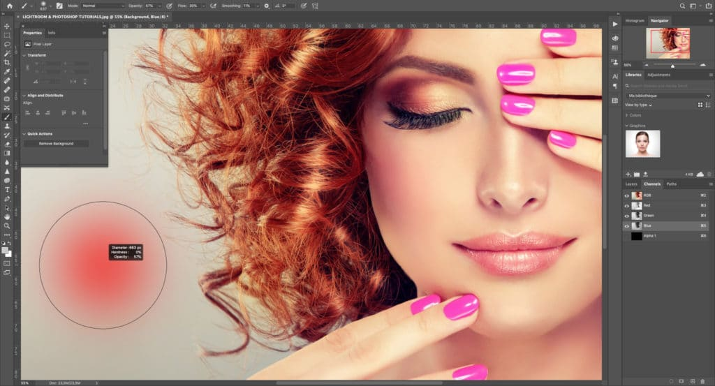 Beauty portrait Skin retouching classes - photo editing