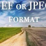 NEF or JPEG format