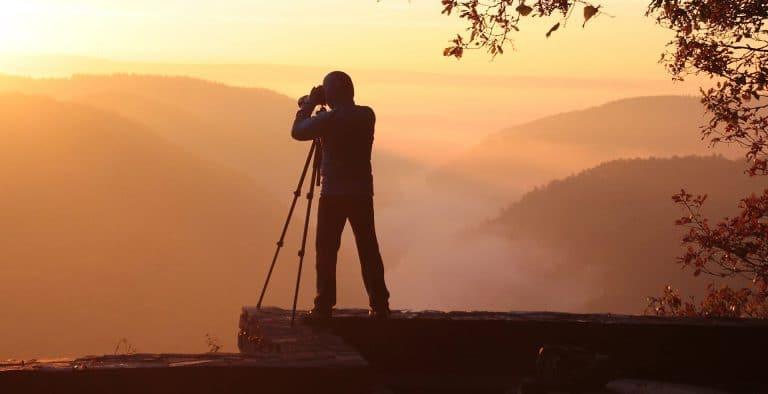 Photographer using NEF