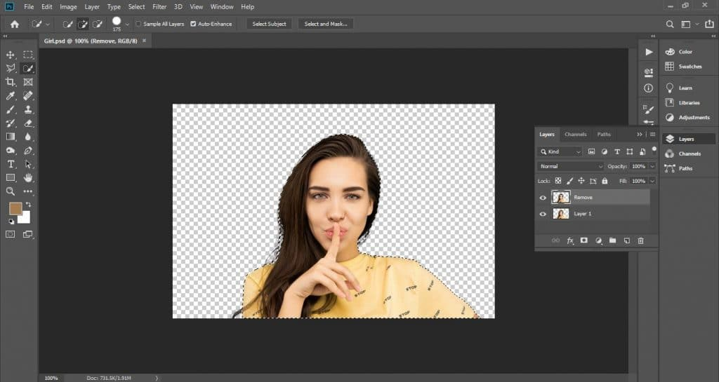 How to remove background in Photoshop 2021