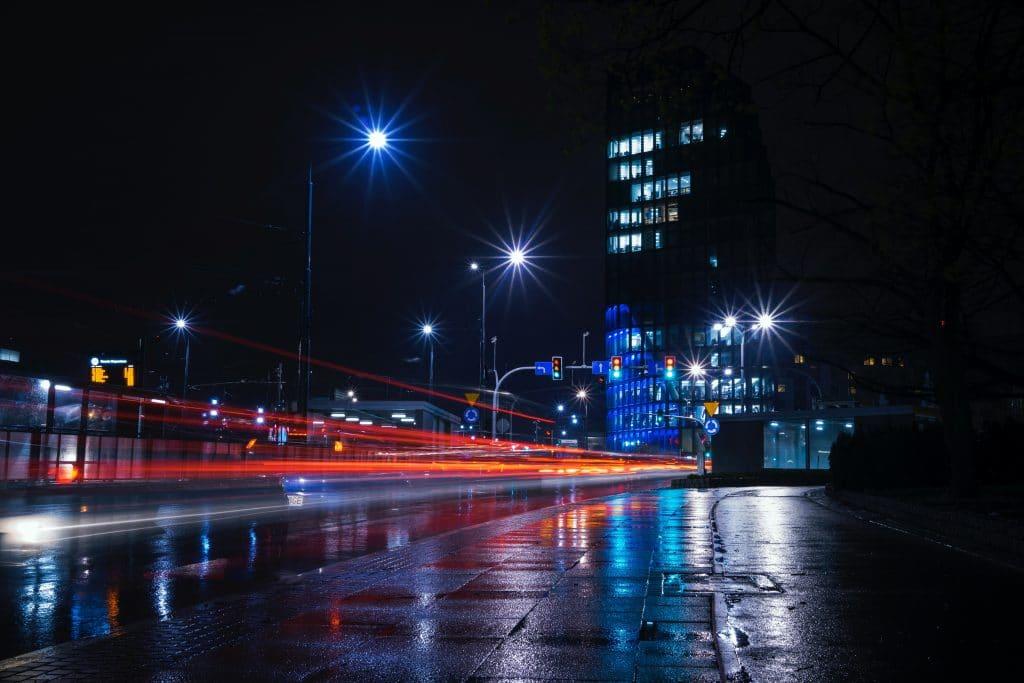 Light trails Motion blur