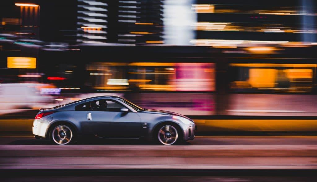 Panning motion blur photography