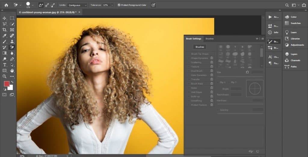 Hair refining in photoshop