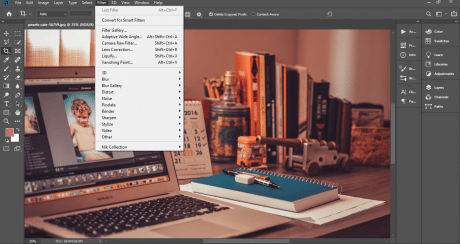 Different types of filters in Photoshop