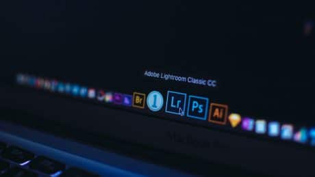Lightroom icon on screen