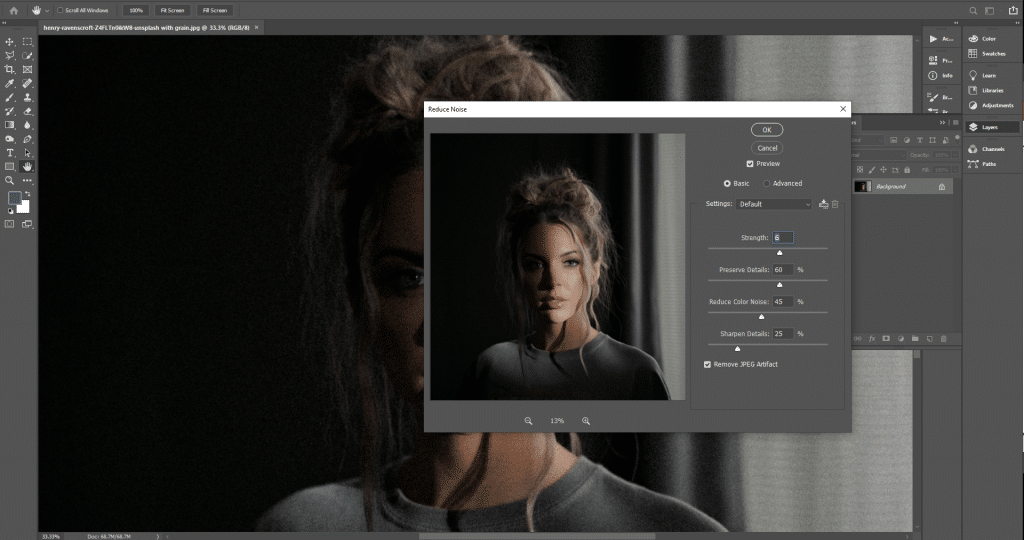 Fixing noise in Photoshop - How to fix grainy photos
