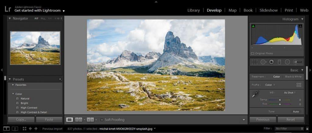 How to edit landscape photos in Lightroom