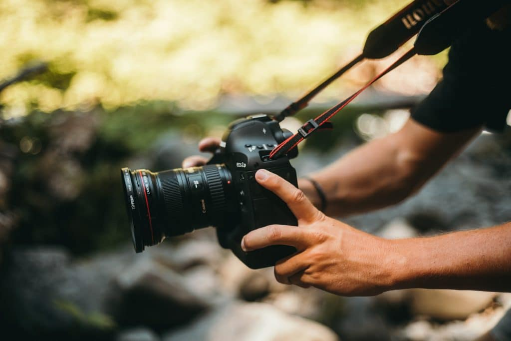Photographer Holding The Best cameras for wildlife photography 2021