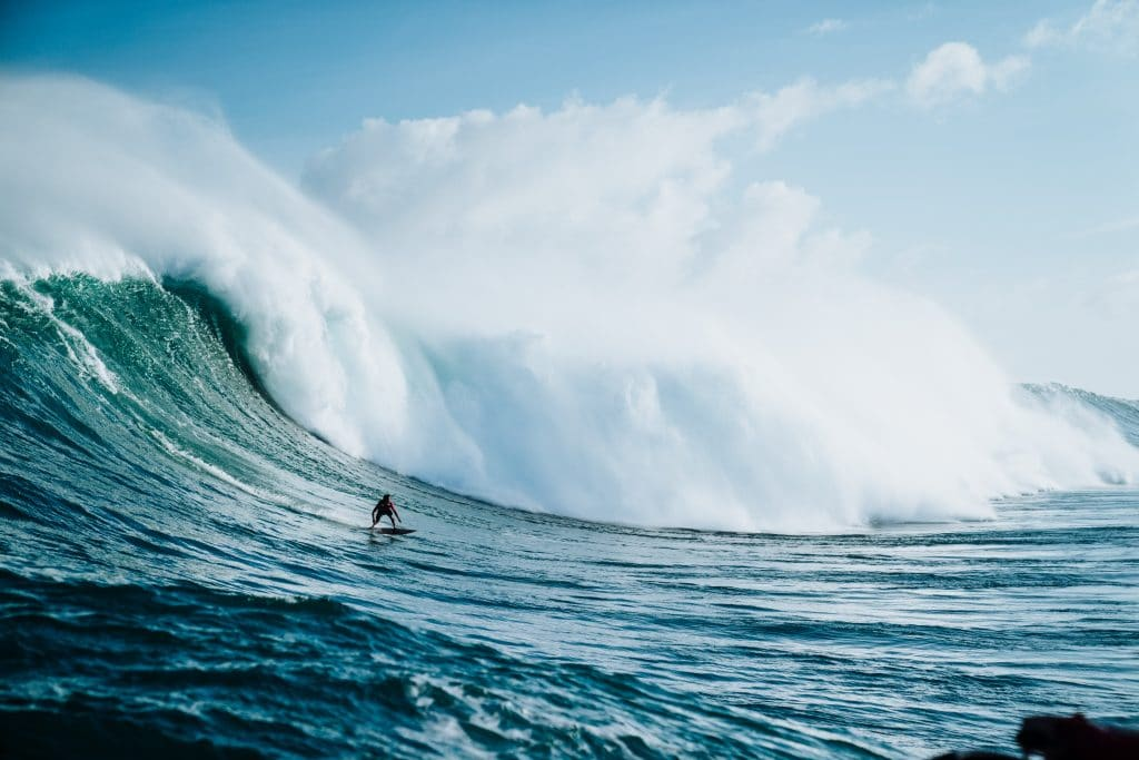 Seascape of a professional surfer - Seascape Photography tips