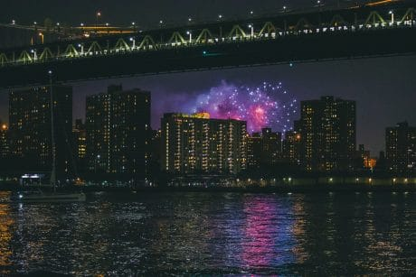 Urban Landscape photography tips with fireworks
