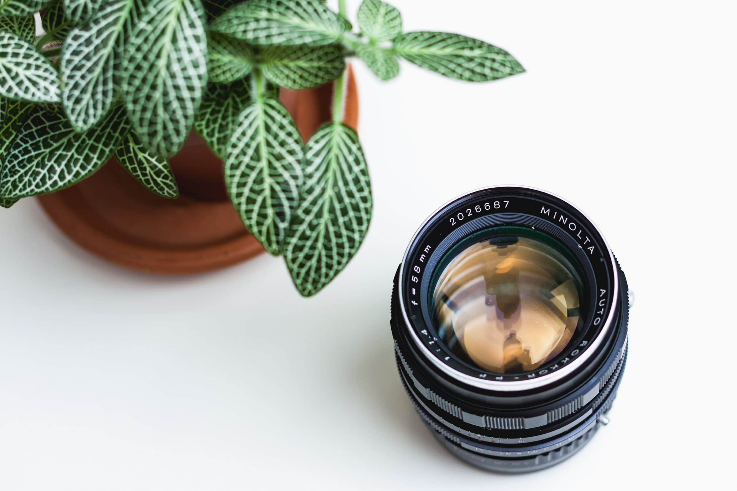Cleaning a camera lens