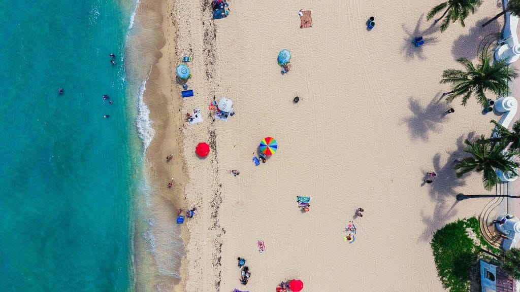 Tips of drone photography of a beach