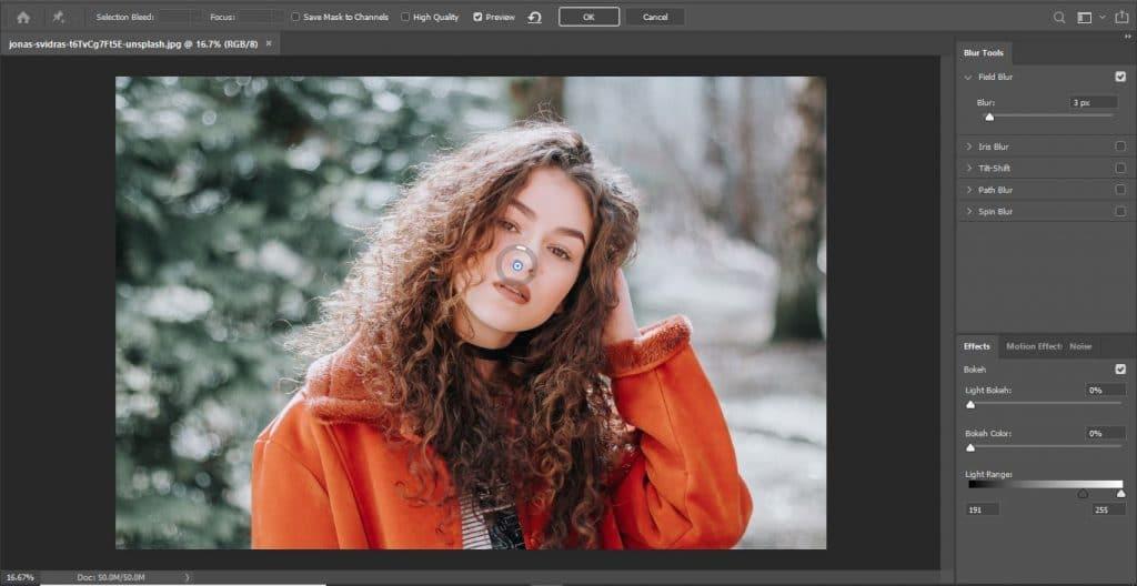 Field blur in Photoshop - How to Blur Background in Photoshop