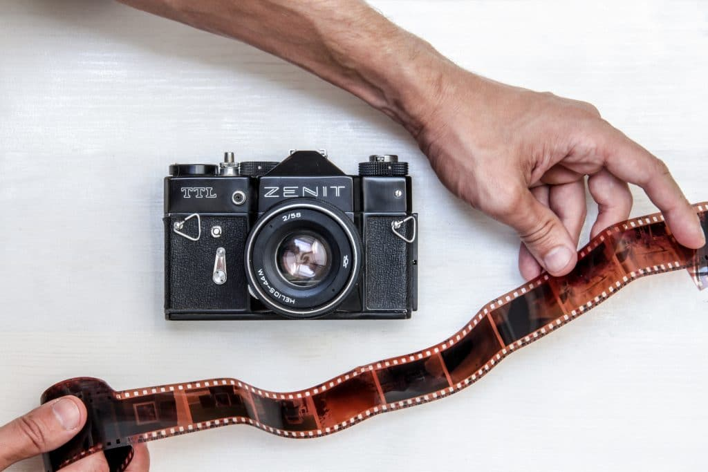 Man developing film - How to develop film at home