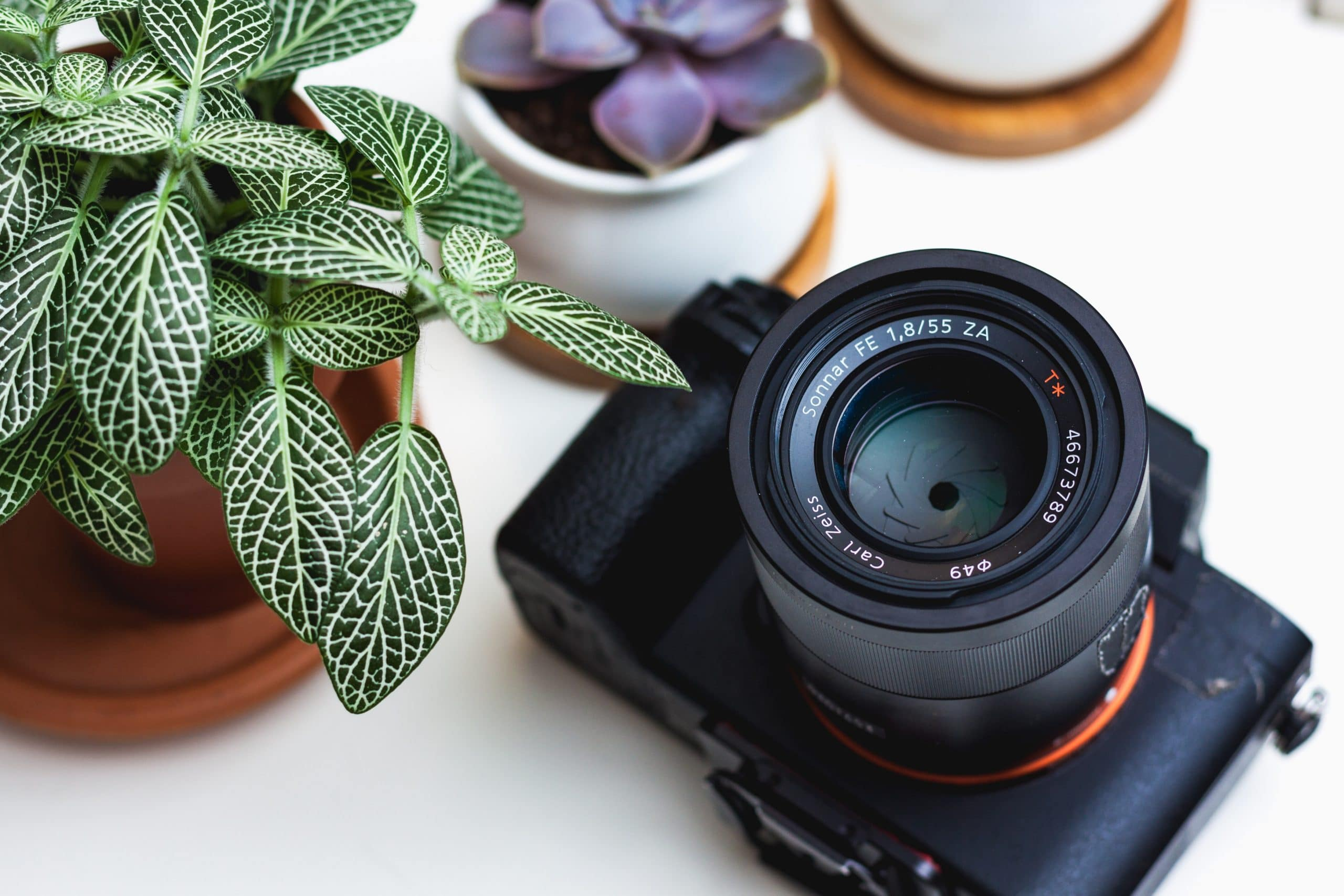 Camera on a white table - Camera Metering Modes