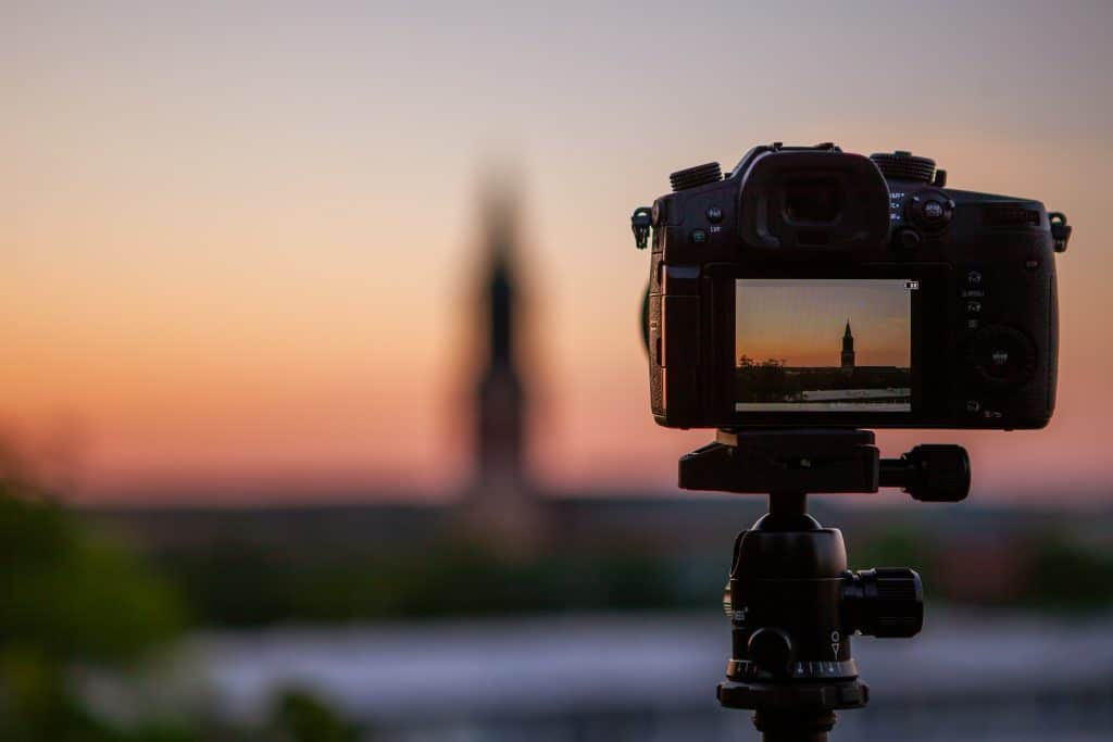 Camera shooting a landscape - Camera Metering Modes