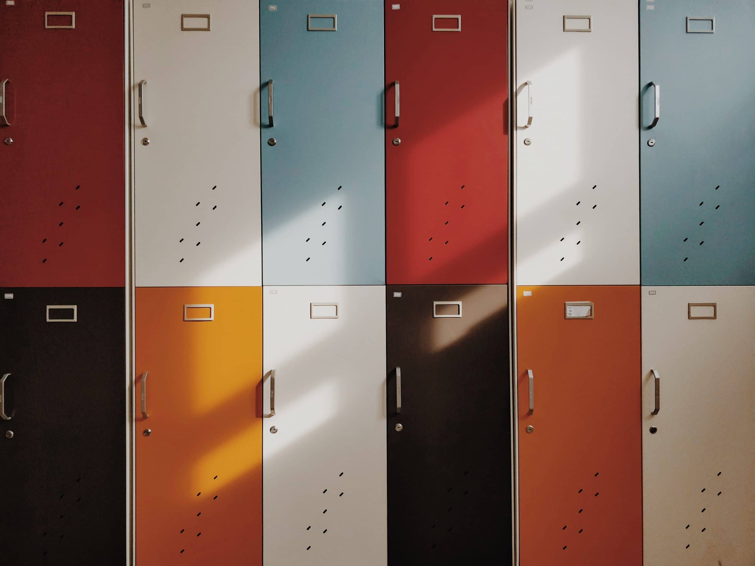 Tips for Minimalist Photography of Colorful lockers