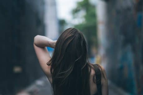 Photo of a girl's back- Blur gallery in Photoshop