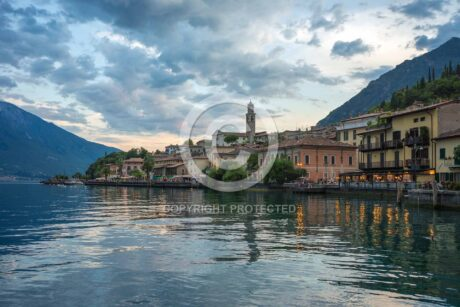 Photo of a port with a copyright watermark added in Photoshop