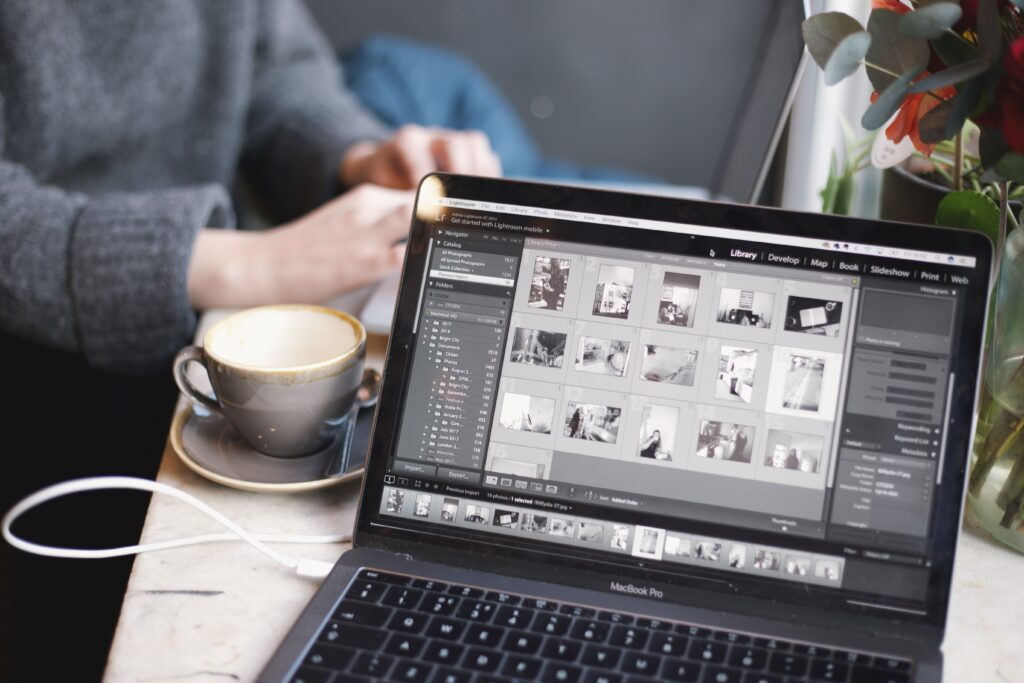 Lightroom editing in laptop